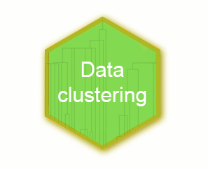 Data clustering hex logo