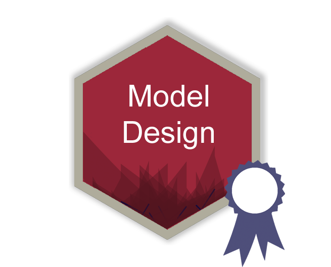 Model design hex logo