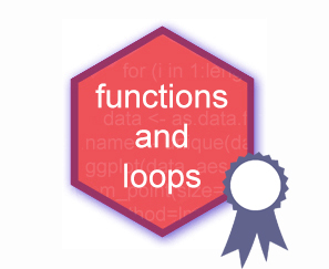 Functions and loops hex logo
