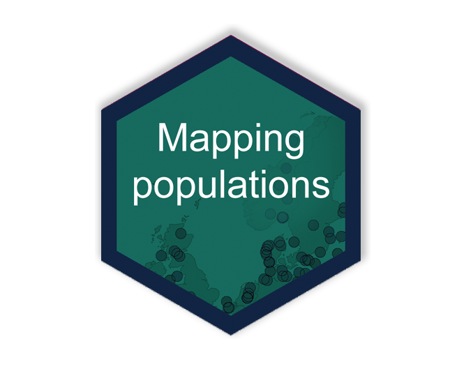 Population change maps hex logo