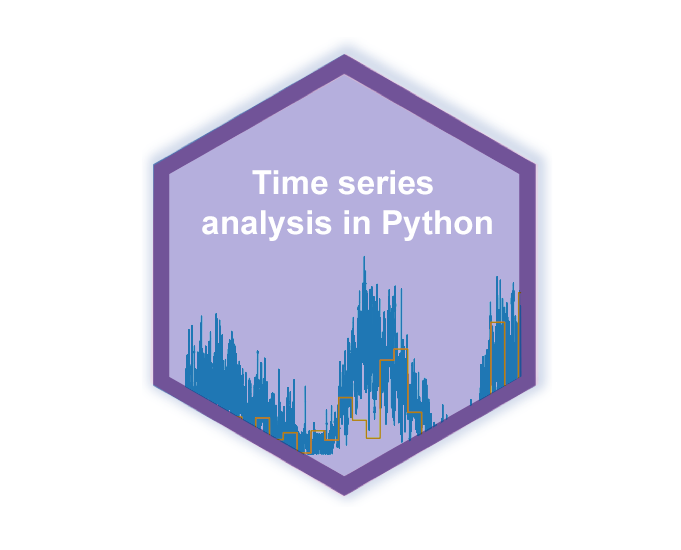 Pandas time series hex logo