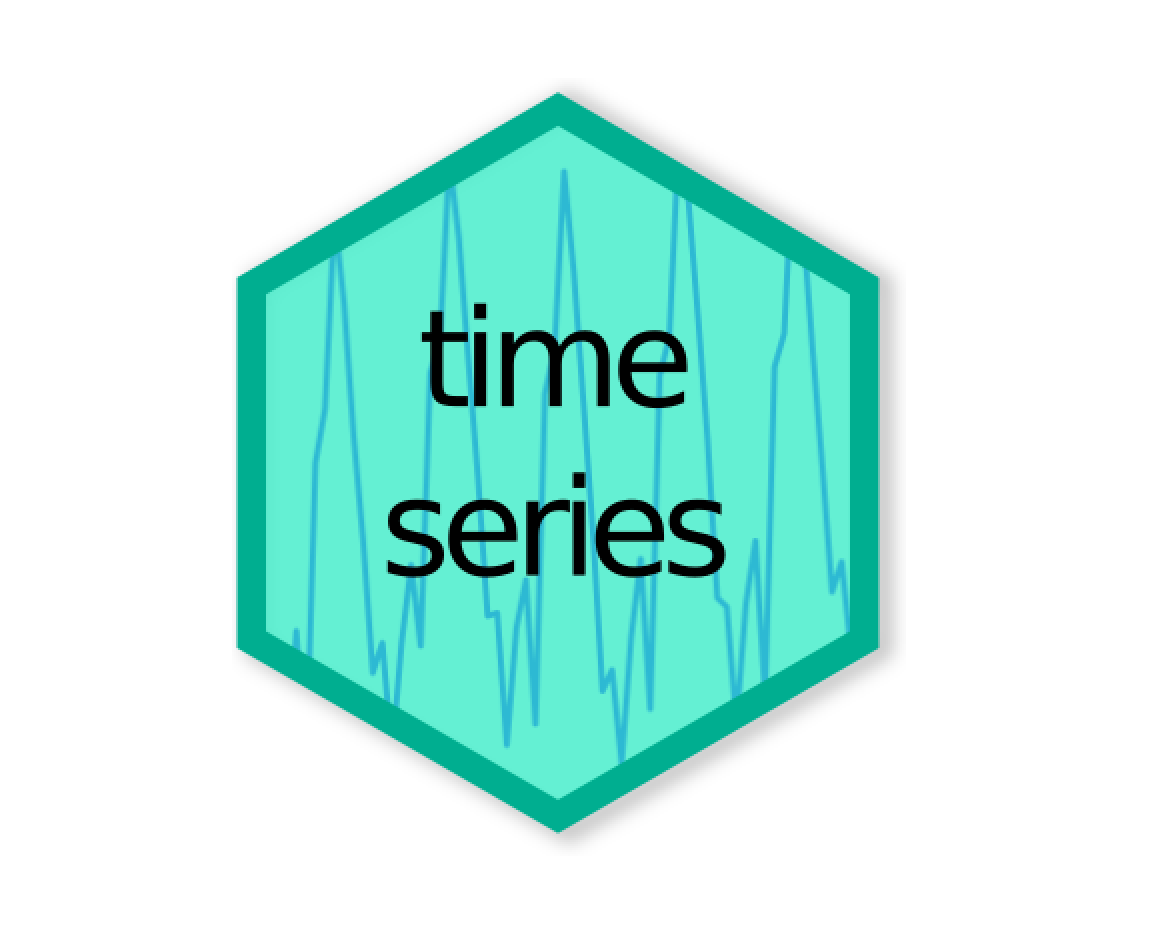 Time series hex logo